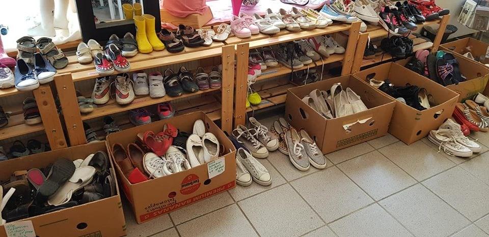 Grote hoeveelheid schoenen